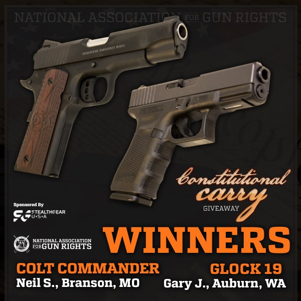 Giveaways - National Association for Gun Rights