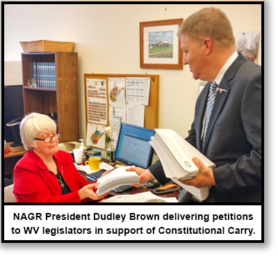 NAGR President Dudley Brown delivers petitions in West Virginia.